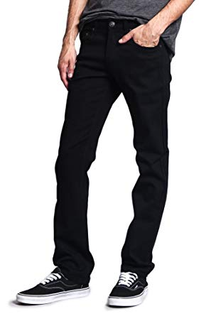 Amazon.com: Victorious Mens Slim Fit Colored Stretch Jeans GS21