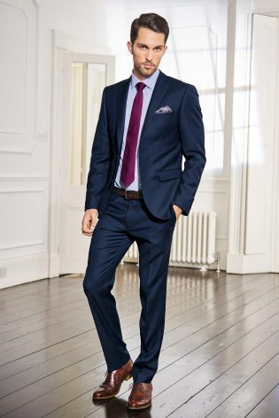 Signature Bright Blue Slim Fit Suit: Jacket from Next | Hubby's suit