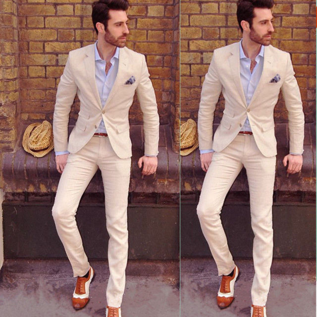 Hot Mens Slim Fit Wedding Suits Groom Tuxedos Groomsmen Formal Suit
