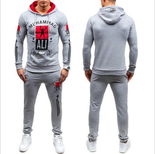 2019 Muscle Brothers Mens Sportswear Sweatshirts Army Camo Set Long