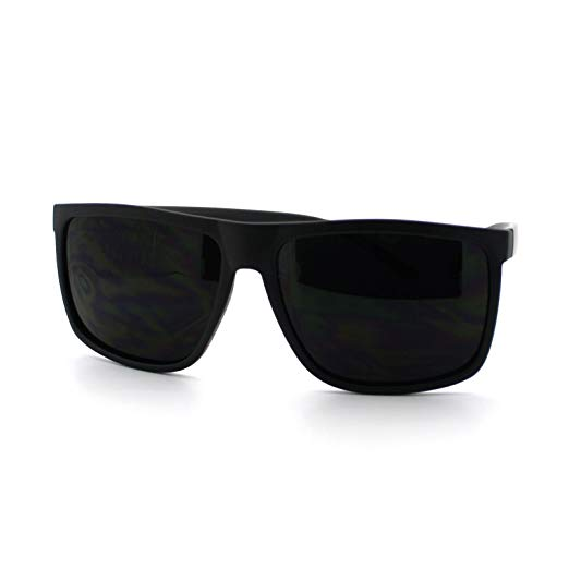 Amazon.com: Super Dark Black Lens Men's Sunglasses Classic Square