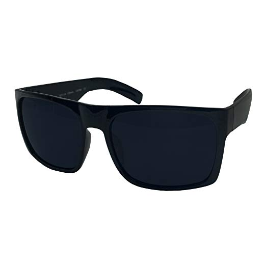 Amazon.com: XL Men's Big Wide Frame Black Sunglasses - Extra Large