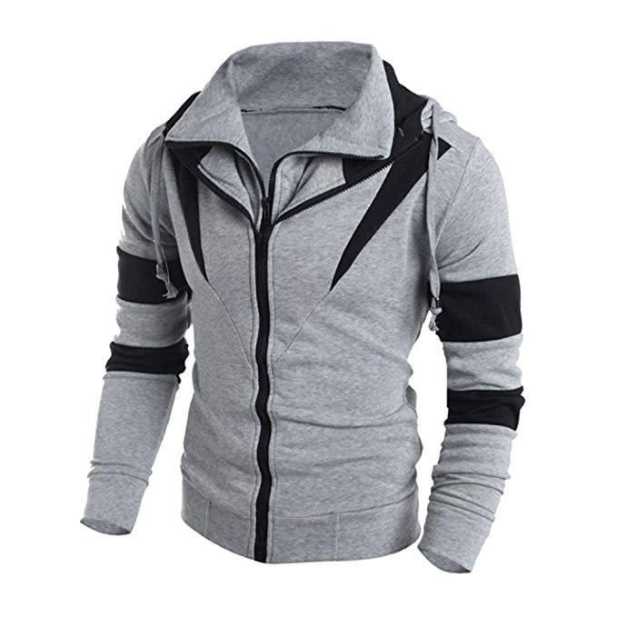 NEARTIME Men's Sweater, Winter Hoodie Man Hooded Sweatshirt Jacket