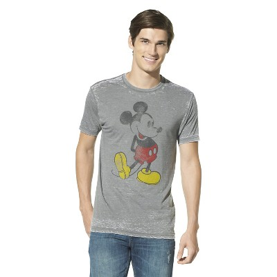 Men's Mickey Mouse T-Shirt - Gray : Target