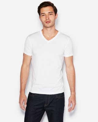 Slim Supersoft V-neck Tee | Express