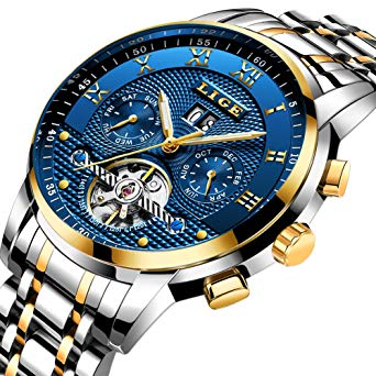 Amazon.com: Mens Watches Top Brand Luxury LIGE Automatic Mechanical