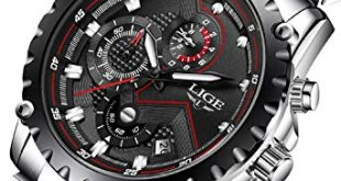 Amazon.com: Mens Watches,LIGE Stainless Steel Chronograph Sports