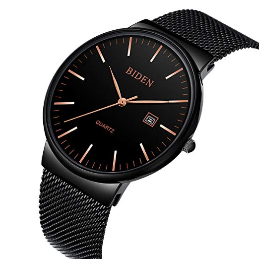 Amazon.com: Mens Watches Black Stainless Steel Wrist Watch Analog