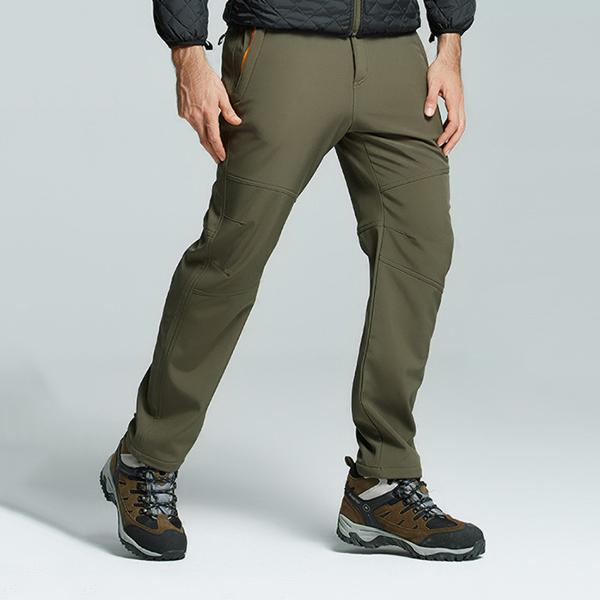 mens outdoor thick fleece water resistant pants at Banggood