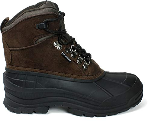 Amazon.com | LABO Men's Snow Boots Waterproof Insulated Lace UP-103