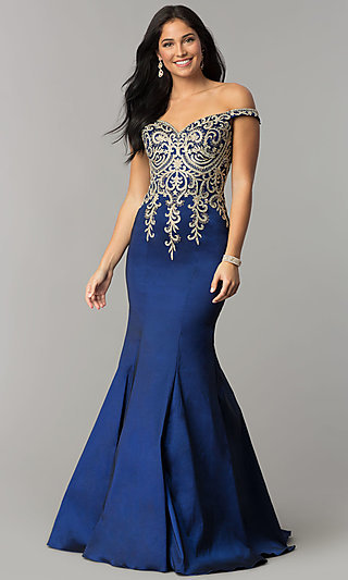 Mermaid Evening Gowns, Long Prom Dresses - PromGirl