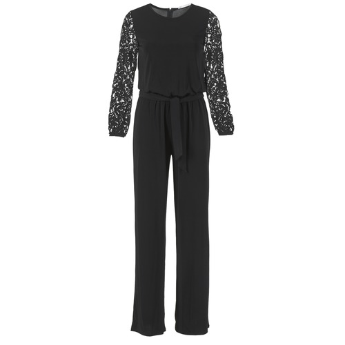 MICHAEL Michael Kors LACE SLV JUMPSUIT Black - Fast delivery with