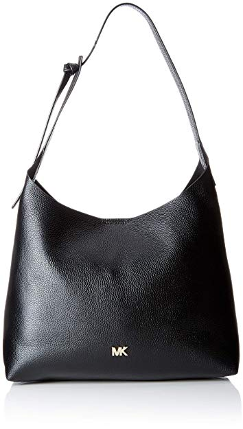 MICHAEL Michael Kors Junie Medium Leather Shoulder Bag - Black