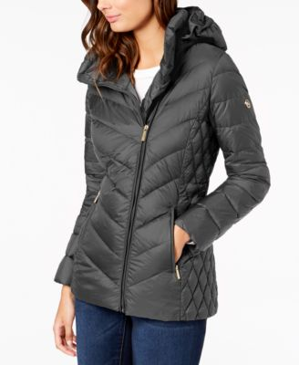 Michael Kors Asymmetrical Hooded Packable Puffer Coat & Reviews