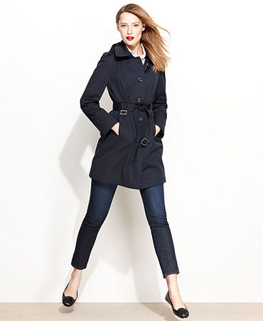 MICHAEL Michael Kors Jacket, Hooded Trench Coat - Womens Coats