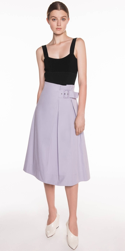Cotton Twill Midi Skirt | Buy Skirts Online - Cue