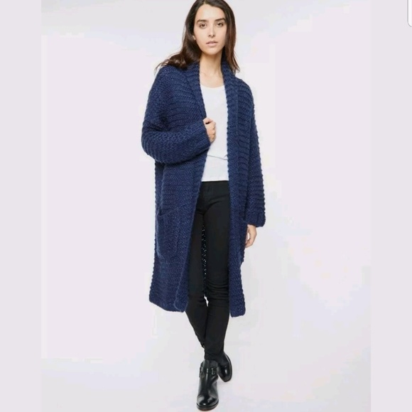 Neuw Jackets & Coats | Handknit Amazing Acrylic Mohair Winter Coat