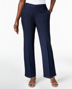 Alfred Dunner Montego Bay Denim Pull-on Pants | LookMazing