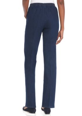 Alfred Dunner Women Montego Bay Proportion Short Pant Indigo QNBFEYD