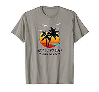 Amazon.com: MONTEGO BAY JAMAICA TROPICAL ISLAND DESTINATION T-SHIRT