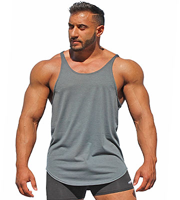 Style 725 - Men's Y-Back Stringer Tank Top. Original Men's Y back