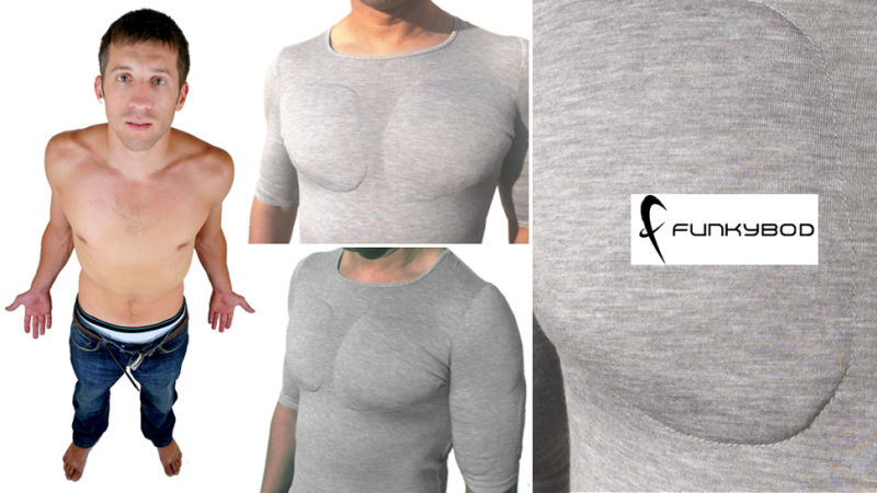 Why Exercise When You Can Buy a $50 Fake-Muscle T-Shirt?