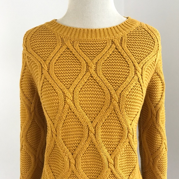 Old Navy Sweaters | Mustard Yellow Pullover 34 Sleeve Sweater Nwot