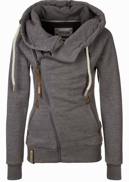 The Vogue Fashion: Naketano Side Zip Gray Hoodie | Want | Pinterest
