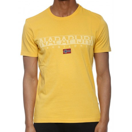 Napapijri Sapriol Ss Men's T-Shirt Yellow N0YHCYYA1