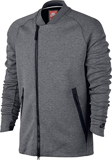 Amazon.com: Nike Sportswear NSW Tech Fleece Jacket Carbon Heather