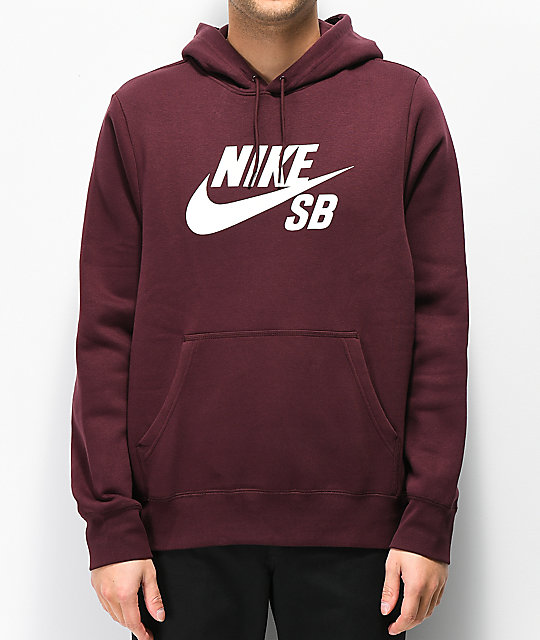 Nike SB Icon Burgundy Crush Hoodie | Zumiez