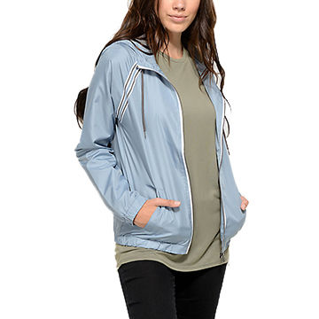China High Quality Women Nylon Lightweight Windbreaker Jacket for