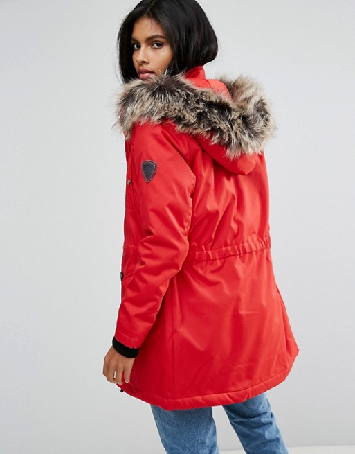 Latest Only Parka With Faux Fur Hood Z42r7 For Women Wholesale Price