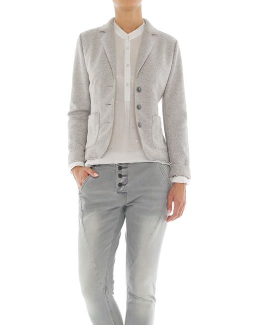 woollen blazer Juno two tone grey by OPUS | shop your favourites online