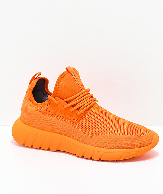 CU4TRO Bolt Caution Orange Knit Shoes | Zumiez