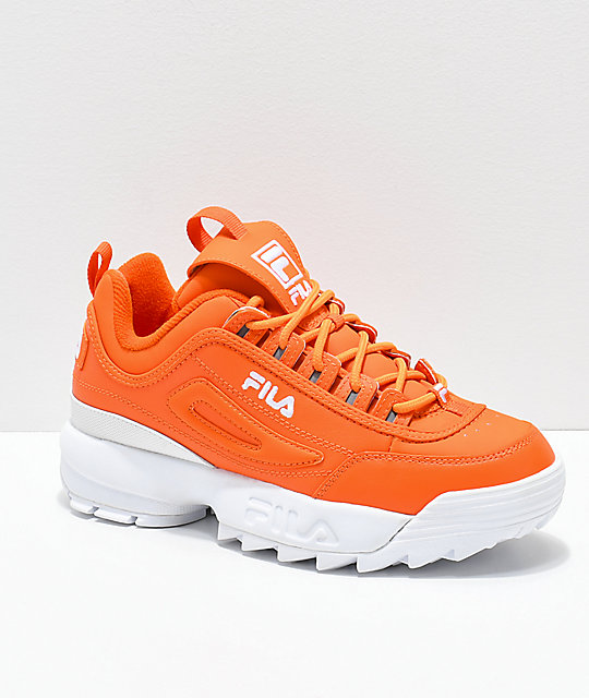 FILA Disruptor II Orange Shoes | Zumiez