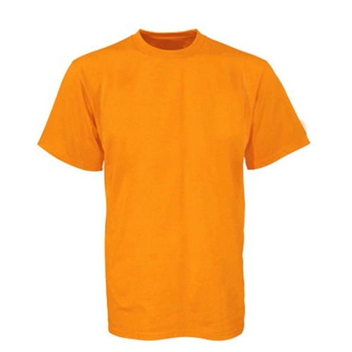 Cotton Round Neck Plain Orange T-Shirt, Size: Medium, Rs 150 /piece