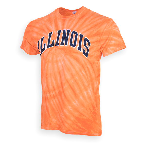 Illinois Orange Tie Dye T-shirt
