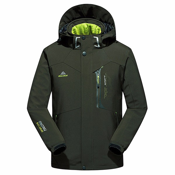 Waterproof Windproof Thick Warm Men Hooded Padded Professional