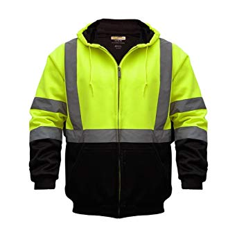 High Visibility Reflective Outdoor Jacket: Softshell Hooded Jackets