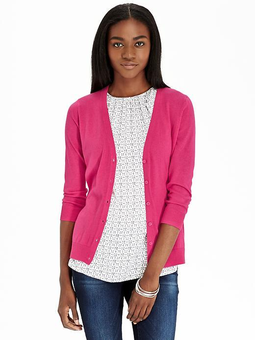 Old Navy 34 Sleeved V Neck Cardigans, $19 | Old Navy | Lookastic.com