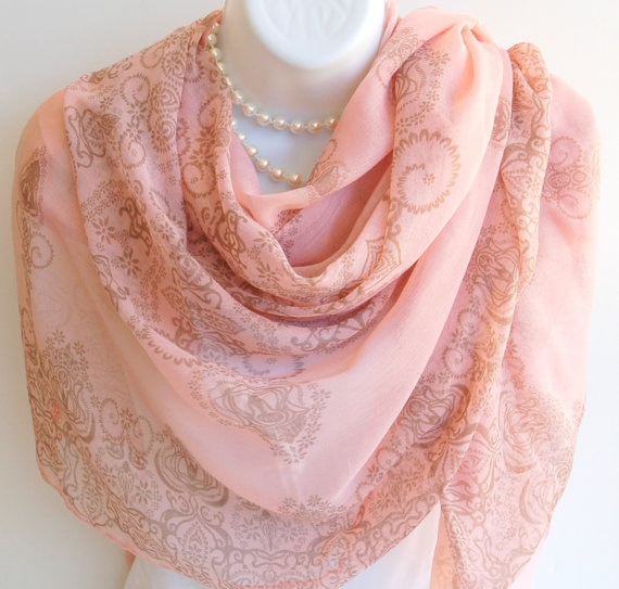 Aliexpress.com : Buy Pink Summer Scarf. Large Pink & Beige Long