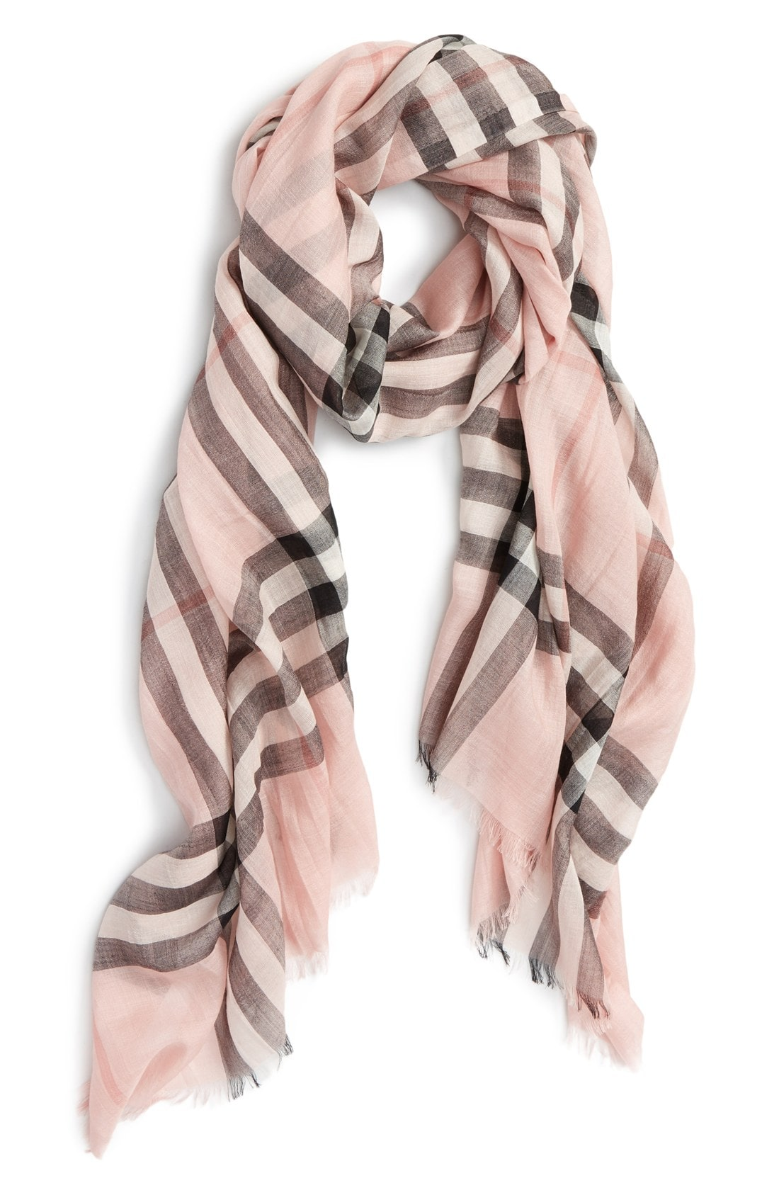 With the scarf in pink simple outfits beautify feminine