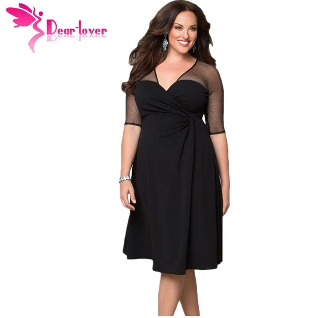 Dear Lover Plus Size XXL Women Fashion Half Sleeve Work Wear Sugar