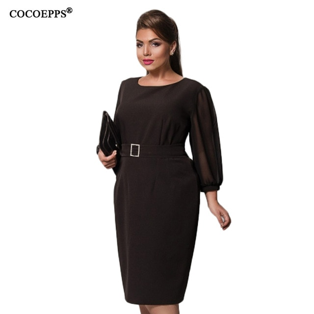 Summer Dress Elegant Big Sizes Mesh Dress Plus Size Women Clothing