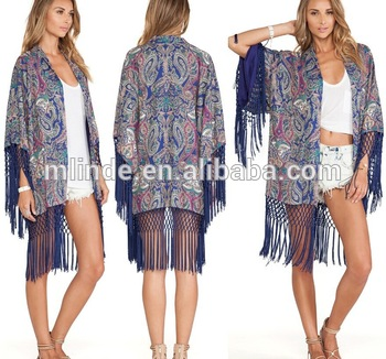Ladies Fashion Plus Size Long Kimono Cardigan In Pastel Scarf - Buy