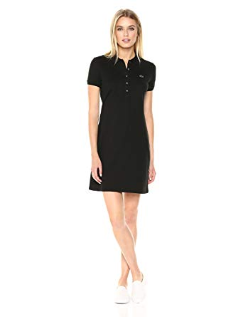 Lacoste Women's Stretch Cotton Short Sleeve Mini Piqué Polo Dress at