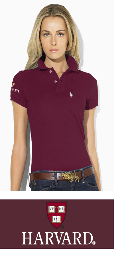 Ralph Lauren Women's Maroon Harvard Polo