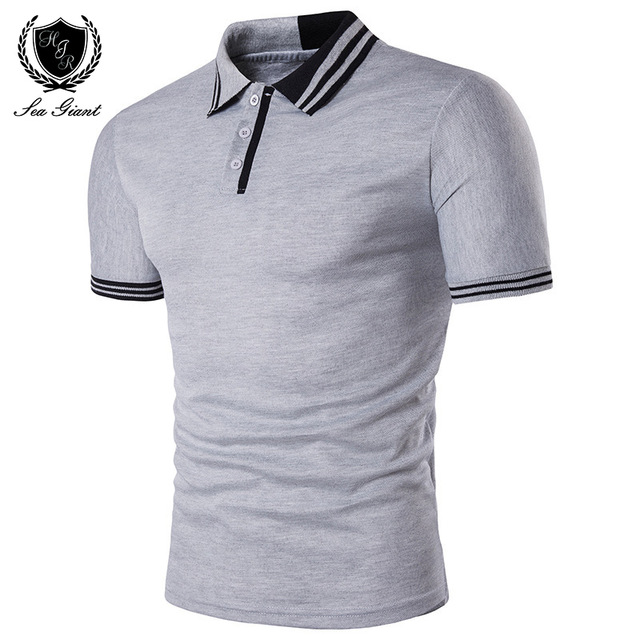 Summer New Brand Mens Polo Shirt Short Sleeve Solid Button Two Color