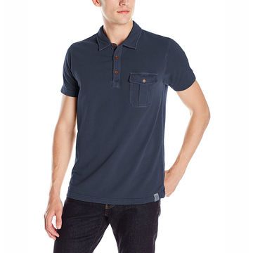 China New and stylish men's polo official shirt with a chest pocket